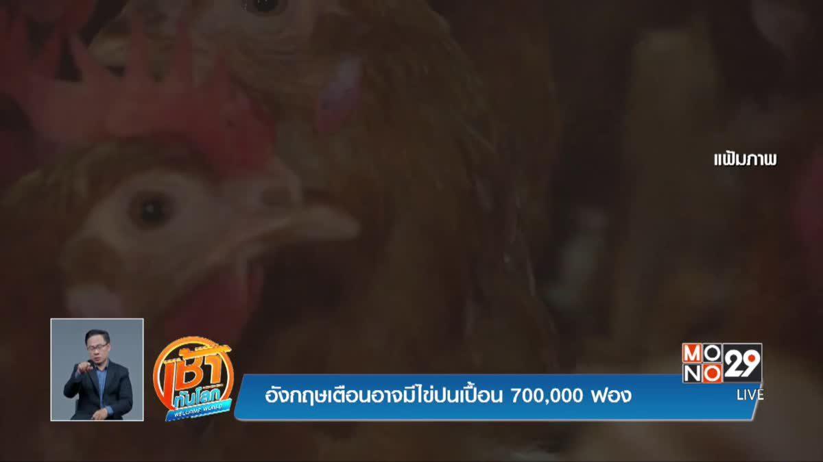 อังกฤษเตือนอาจมีไข่ปนเปื้อน 700,000 ฟอง