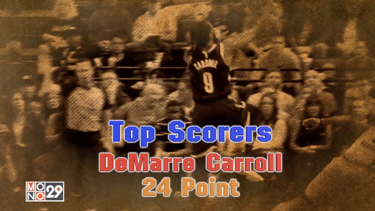 Top Scorers DeMarre Carroll 24 Point