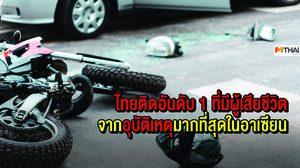 ไทยติดอันดับ 1 ที่มีผู้เสียชีวิตจาก อุบัติเหตุ มากที่สุดในอาเซียน