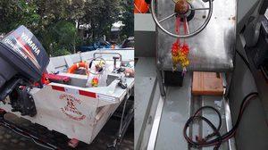 รวบแล้ว!! โจรขโมยแบตเตอรี่เรือช่วยผู้ประสบภัย สารภาพหาเงินซื้อเหล้า