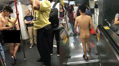 ตะลึงทั้งขบวน หนุ่มแก้ผ้าขึ้นรถไฟใต้ดิน MRT แบบโนสนโนแคร์ทุกสายตา