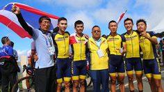 ทีมจักรยานไทย คว้า 2 ทอง ซีเกมส์ 2019 โร้ดเรซ ประเภทบุคคลชาย-ทีมชาย