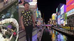 ฉลองยุคเรวะ!! หนุ่มญี่ปุ่นกระโดดสะพานย่าน Dotonbori แต่เรือขับผ่านมาพอดี… เลยเจ็บตัวไป