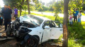 เผยสภาพรถ น้องเฟี๊ยส มิสแกรนด์อุทัยฯ 2017 หลังประสบอุบัติเหตุเสียชีวิต