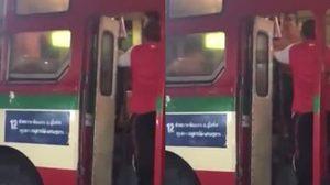 สุดเถื่อน! คลิปแฉกลุ่มวัยรุ่นเมาหนักวิ่งขึ้นรถเมล์สาย 12 รุมทำร้ายคนขับเจ็บ