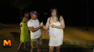 จนท.ไล่จับวุ่น สาวจีนคลั่ง เปลือยกายลงทะเลพัทยา