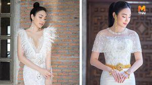 แรงบันดาลใจจาก นางสวรรค์ของชาวกรีก เมย์ พิชญ์นาฏ สวยสง่าในชุดแต่งงาน