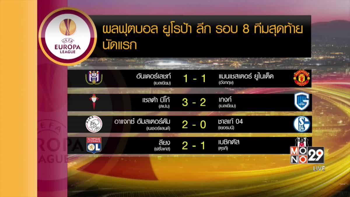 ผลฟุตบอลยูโรป้า ลีก รอบ 8 ทีมนัดแรก