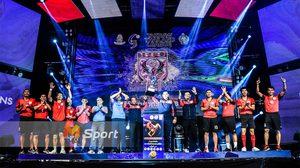 ผลตะกร้อ : 'พญาหงส์' แรงปลายเฉือนชนะคะแนนป้องกันแชมป์ ตะกร้อไทยลีก 2018