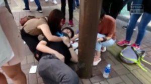 ผู้ประท้วงในฮ่องกง ถูกแทงได้รับบาดเจ็บสาหัส