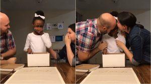 ของขวัญสุดเซอร์ไพรส์! เด็กสาวกำพร้ากลั้นน้ำตาไม่อยู่ หลังถูกรับเป็นลูกบุญธรรม