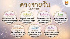 ดูดวงรายวัน ประจำวันอาทิตย์ที่ 29 กรกฎาคม 2561 โดย อ.คฑา ชินบัญชร