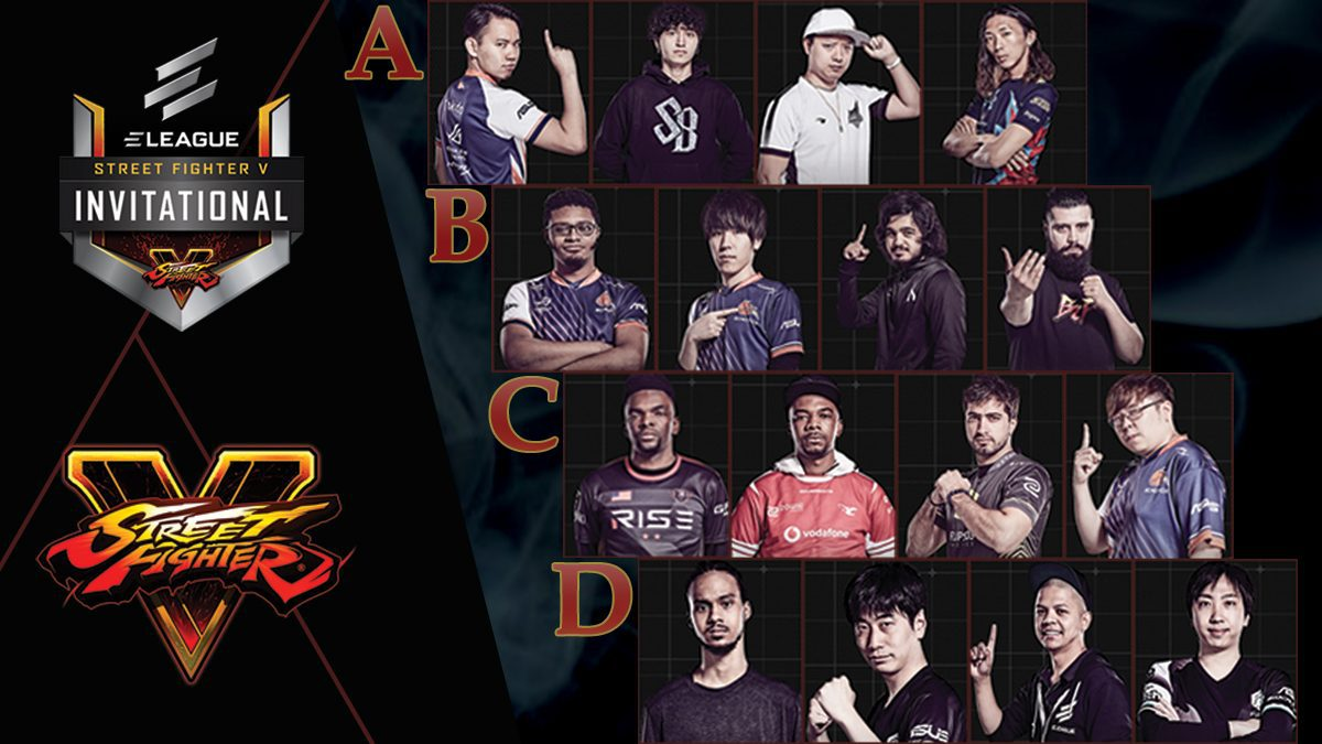 การแข่งขัน Street Fighter V Invitational 2018 : แนะนำตัวผู้เข้าแข่งขันในแต่ละกรุ๊ป [FULL]
