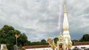 ฮือฮา! ภาพเงาสะท้อน 'พระธาตุพนม' ในวันอาสาฬหบูชา