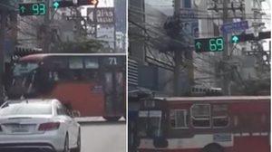 แบบนี้ก็ได้เหรอ! คลิปรถเมล์สาย 71 ขับฝ่าไฟแดง โอดเจอประจำ