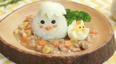 ข้าวไก่กุ๊กๆ ข้าวราดผัดไก่กับไข่ต้ม สไตล์กล่องข้าวน้อยค่ะแม่
