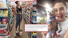 หลิว อาจารียา โพสต์ขอโทษ ดราม่าพาน้องหมาเข้าร้านสะดวกซื้อ