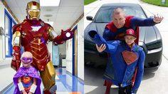 ตำรวจฮีโร่ แต่งตัวเป็นยอดมนุษย์ให้กำลังใจเด็กที่ป่วยเป็นมะเร็งทั่วประเทศ