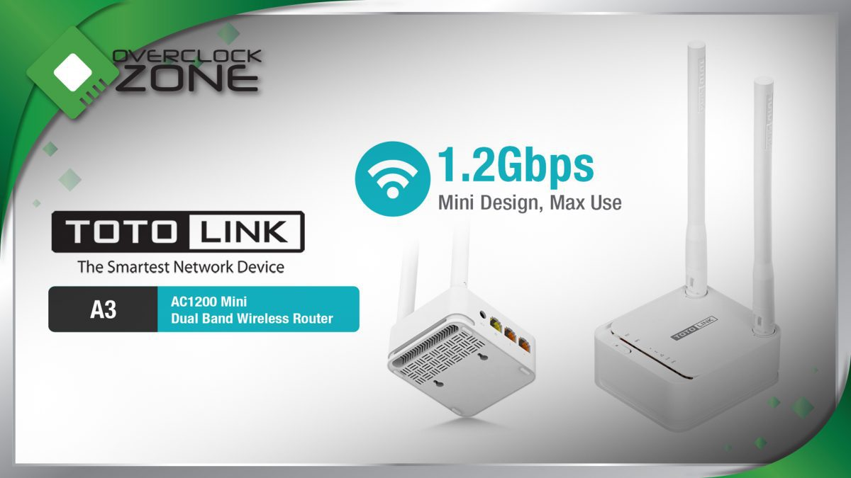 รีวิว TOTOLINK A3 : AC1200 Mini Router