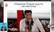 ผู้นำฟิลิปปินส์มีแผนเยือนจีน