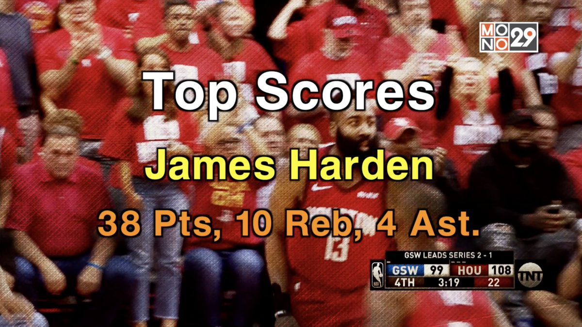 Top Scores! James Harden, 38 Pts. 10 Reb
