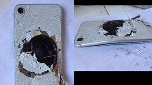 สาวจีนชาร์จ iPhone 8 ข้ามคืน เกิดเหตุปะทุ ไฟลุกไหม้