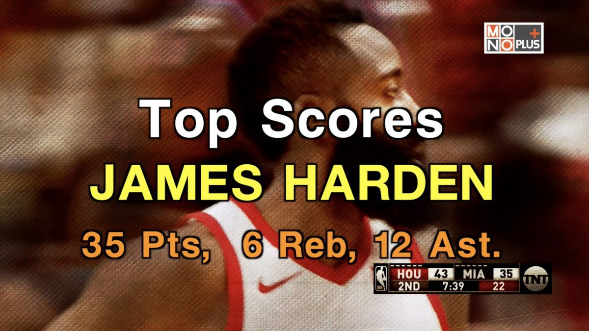 HIGHSCORE  JAMES HARDEN  35 PTS  6  REB  12  AST
