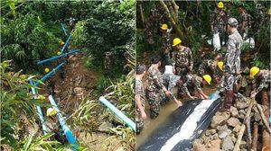 หนึ่งในฮีโร่! กรมอุทยานฯ ขนท่อหนัก 600 กิโลกรัม สนับสนุนภารกิจช่วยหมูป่า