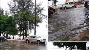 ฝนถล่มหนักหลายจังหวัด – พัทยาอ่วม น้ำท่วมขัง รถติดขัด !