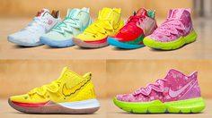 ดำดิ่งลงไปใน บิกินี่ บอททอม กับ รองเท้าบาส SpongeBob SquarePants x Nike Kyrie สีสันจัดจ้าน