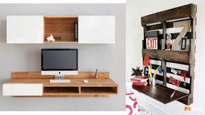 9 โต๊ะทำงานติดผนัง ประหยัดพื้นที่ขั้นสุดสำหรับห้องขนาดเล็ก