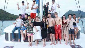 ซุปตาร์จีน แท็กทีม นักแสดงไทย ล่องเรือหรูซุ่มคุยโปรเจกต์พิเศษ!!