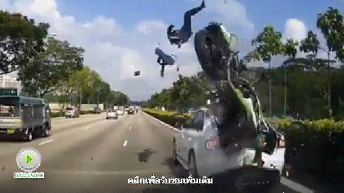รถเสียจอดชิดริมขวาไม่มีสัญญาณบอกคันหลังระวังเจอแบบนี้นะครับ (26-01-61)