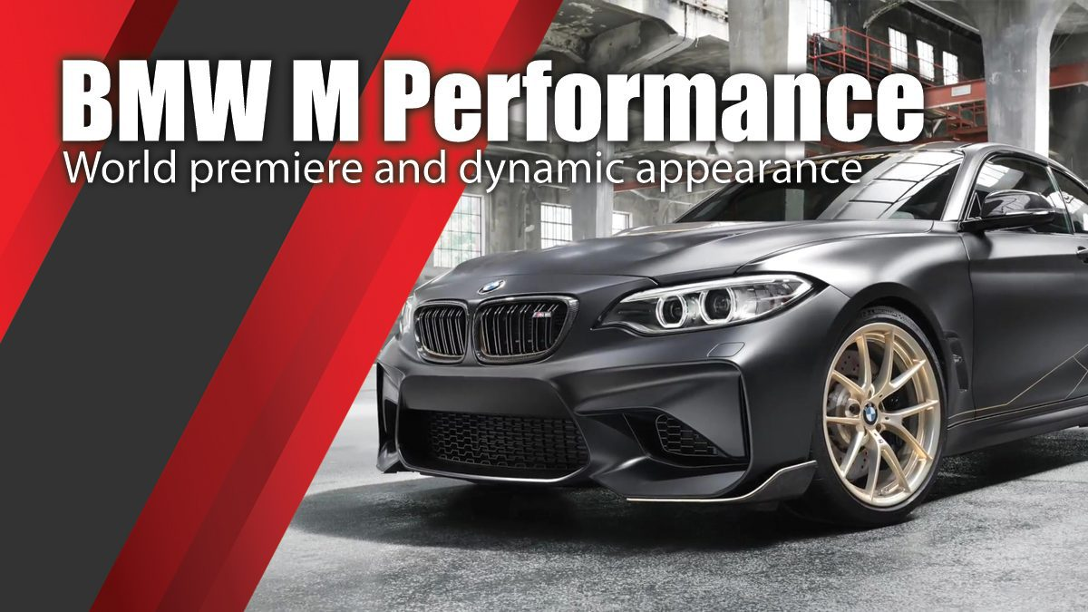 World premiere and dynamic appearance of the BMW M Performance Parts Concept in Goodwood