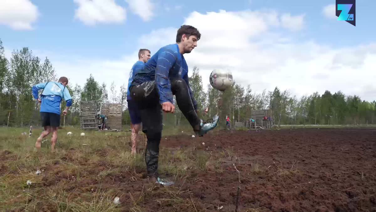 Crazy leg muscles required: Introducing swamp football
