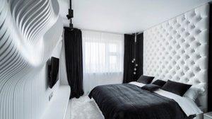 รวมไอเดียแต่ง ห้องนอนสีขาวดำ สุดชิค