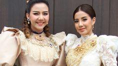 """งามอย่างไทย! """"ใบเตย"""" ประชัน """"จ๊ะ"""" นำทีมสาวๆ อาร์สยามเที่ยวงานอุ่นไอรักฯ"""