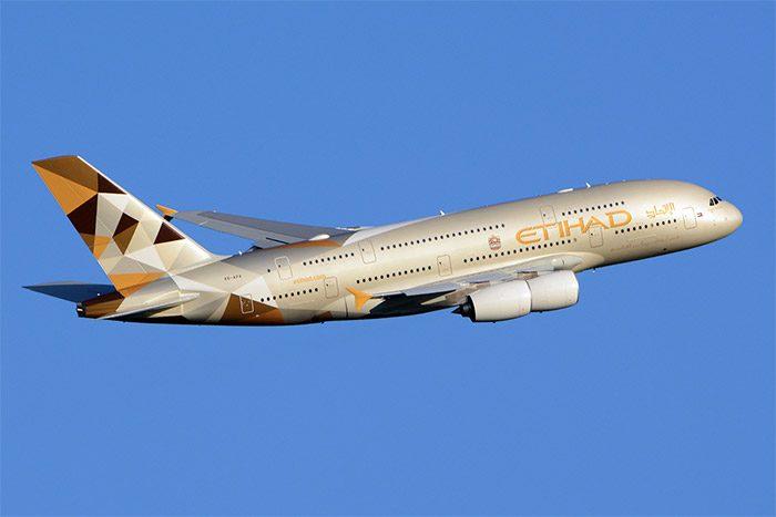เครื่องบินแอร์บัส รุ่น A380 ของสายการบินเอติฮัดแอร์เวย์