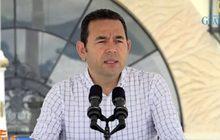 ผู้นำกัวเตมาลาแถลงข่าวเรื่องผู้อพยพชาวฮอนดูรัส