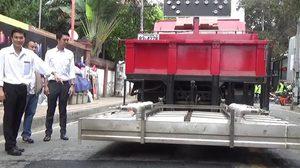 เชียงใหม่ไฮเทคใช้ระบบอินฟาเรด 'ซ่อมถนนพัง' แห่งแรกของประเทศ!!