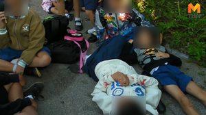 รถตู้รับส่งนักเรียน ชนเสาไฟ เด็กได้รับบาดเจ็บจำนวนมาก