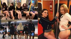 No Pants Subway Ride 2016 พร้อมใจกันถอดกางเกงเรียกเสียงฮา!!