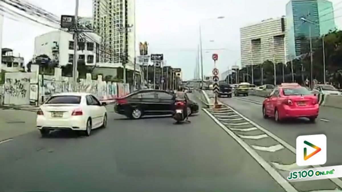 รถมักง่าย ออกจากซอยรัชดา46/1 ตัดกระแสรถทางตรง ขับลงอุโมงค์แยกรัชโยธิน อันตรายมาก