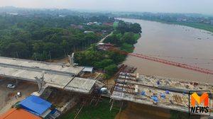 กระทบต่อเนื่อง! เหตุสะพานข้ามแม่น้ำถล่ม คนงานกว่า 100 คนว่างงาน