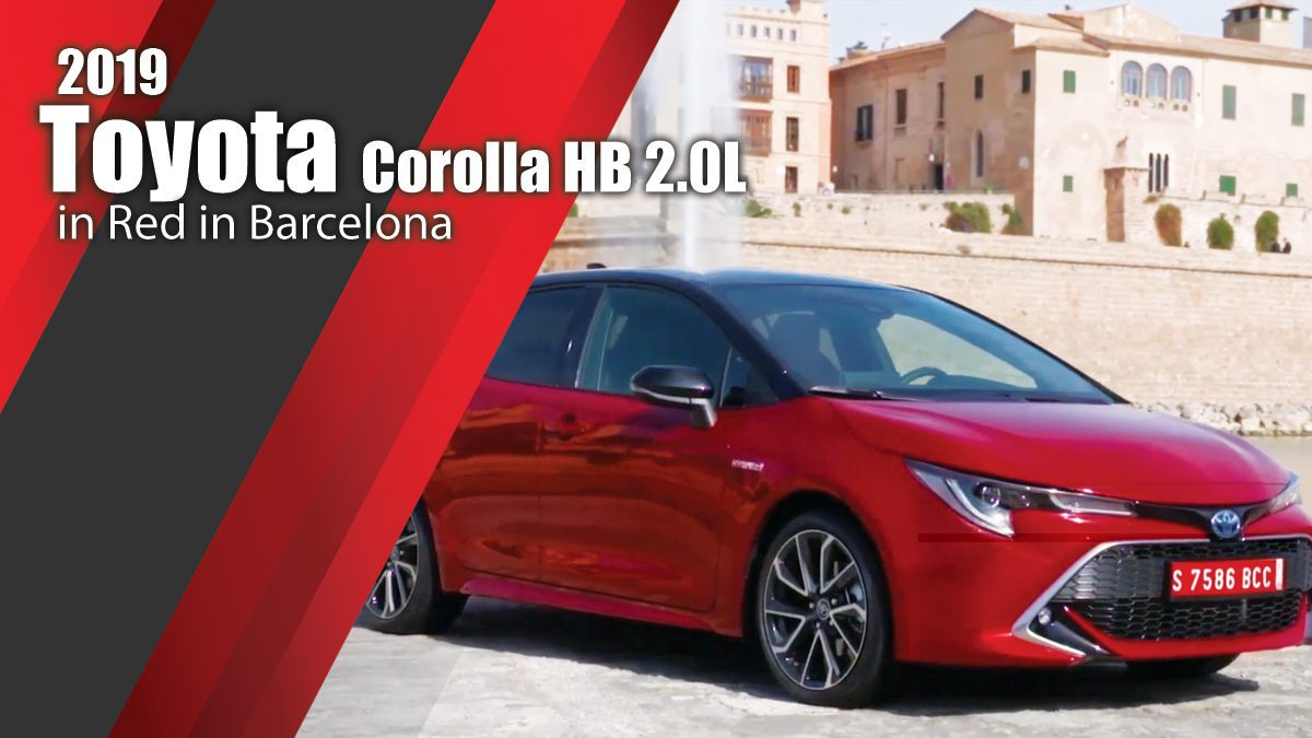 2019 Toyota Corolla HB 2.0L Design in Red in Barcelona