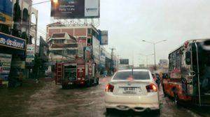 ฝนถล่ม ! ขอนแก่น น้ำท่วมเมือง จราจรติดขัด เฝ้าระวังน้ำป่าไหลหลาก