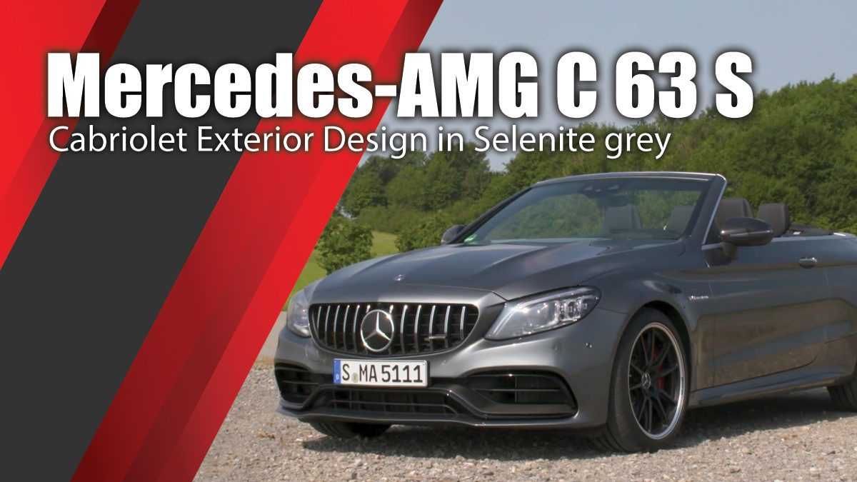 Mercedes-AMG C 63 S Cabriolet Exterior Design in Selenite grey