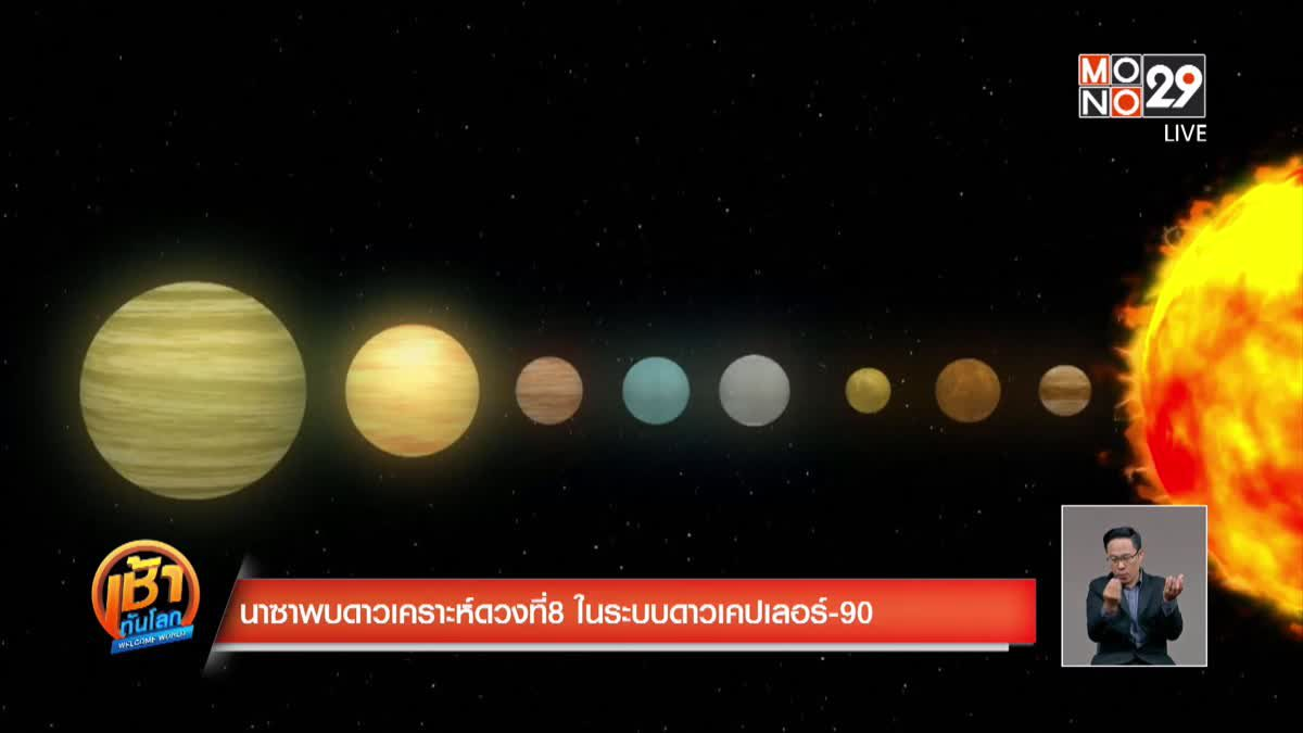 นาซาพบดาวเคราะห์ดวงที่ 8 ในระบบดาวเคปเลอร์-90