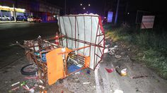 หนุ่มซิ่งรถชนคนเดินริมทาง หนีชนรถพ่วงขายลูกชิ้นดับซ้ำ ก่อนรถจะตกคูน้ำ เผ่นหนี