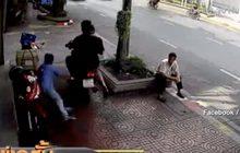 จยย.พุ่งชนคนบนทางเท้า ผู้บาดเจ็บไม่ยอมความ